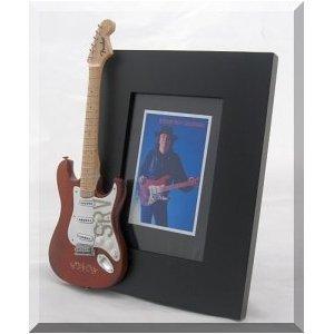 Stevie Ray Vaughan Miniatur Gitarre Foto Rahmen Lenny