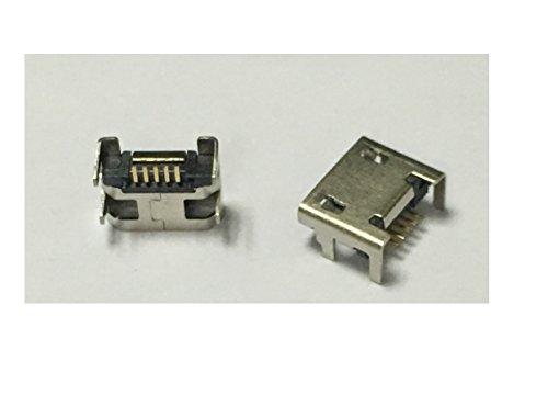 tecnostore® 2x conector micro USB hembra 5pines PCB SMD Connector Mini Jack F pines 90°