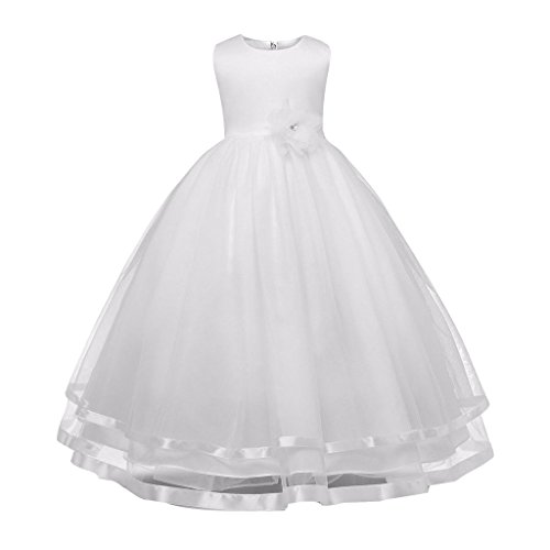 Mädchen Kleid Hochzeitkleid - Juleya Sweet Prinzessin Lace Blumenmädchenkleider für Hochzeits Brautjungfern Festzug Partei Festliches Kleid