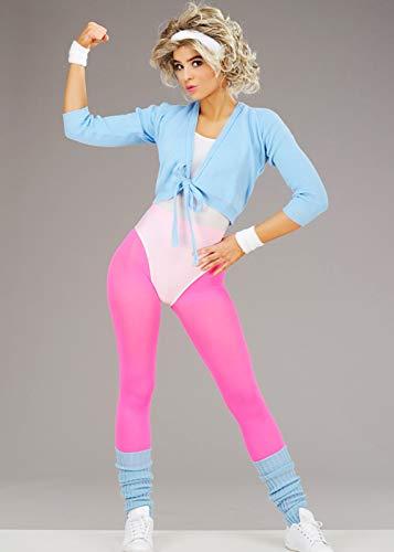 Womens 1980s Olivia Newton John Style Workout Costume. Sizes 8, 12.