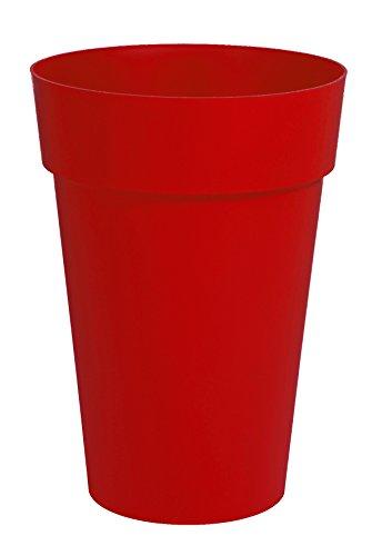 EDA Plastiques Vase haut TOSCANE rouge rubis - Ø46 x H.65cm - 67 L