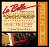 La Bella Hawaiian Plateau 6 cordes de guitare en Nickel Tunin B11