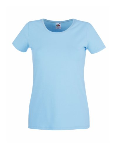 Price Drop 247Damen T-Shirt, Einfarbig Sky Blue