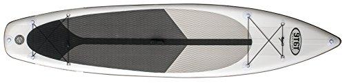 NINETYSIXTY Sup / Touring 11'6 Stand Up Paddel Board (Isup), Weiß/Schwarz/Grau, 11/6 Zoll