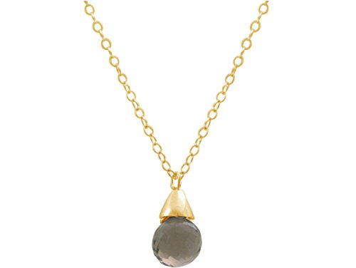 gemshine-collar-colgante-chapado-en-oro-de-18k-cuarzo-ahumado-gota-45-cm