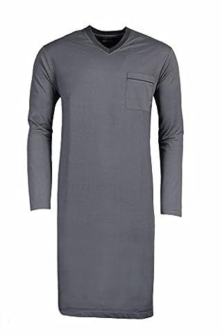 Hajo Herren Nachthemd Klima Light 58/3XL Grau (103)
