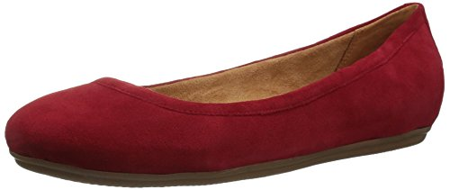 Naturalizer Women's Brittany Ballet Flat, red, 8 N US -