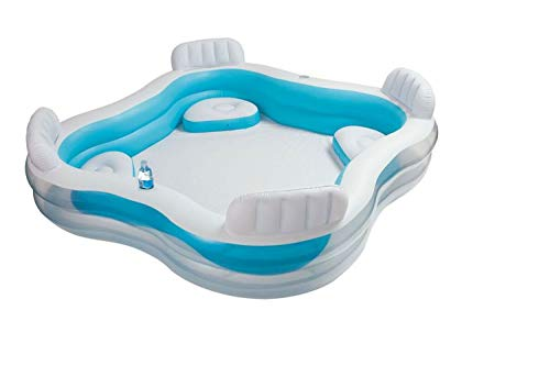 Intex Kinderpool Swim-Center Family Lounge Pool, Mehrfarbig, 229 x 229 x 66 cm