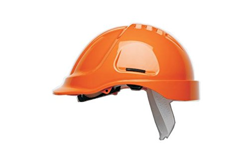 Scott Safety HC600/HO Helmet Unvented with Sweatband, High Visibility, Orange