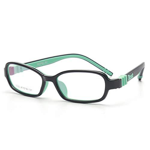 Shiduoli Kinder Brillengestell Silikon Nasenpads Brillengestell Brillen für Frauen (Color : Green)