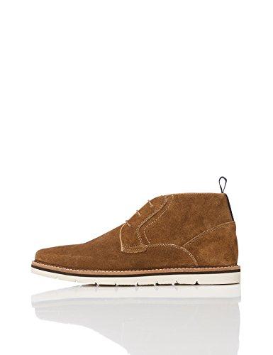 FIND Herren Rauleder Stiefel, Beige (Stone), 42 EU (Beige Leder Schuhe)
