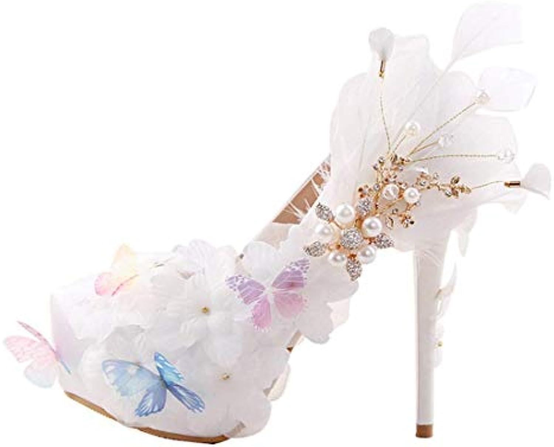 Willsego Ladies Luxuriant Applique Plateau bianca Satin Wedding Wedding Wedding Slip-on scarpe UK 3 (Coloreee   -, Dimensione   -) | Sensazione piacevole  61f73e