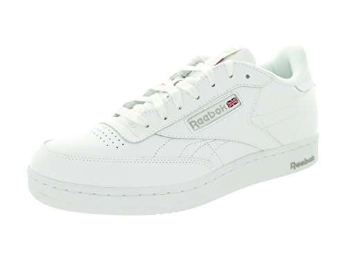 Reebok Club C Extra Wide (4E) Mens Classic Tennis Shoe 7.5 White-Grey