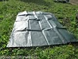 Strong Blue Waterproof Tarpaulin Ground Sheet Covers For Camping, Fishing, Gardening & Pets 2x3M