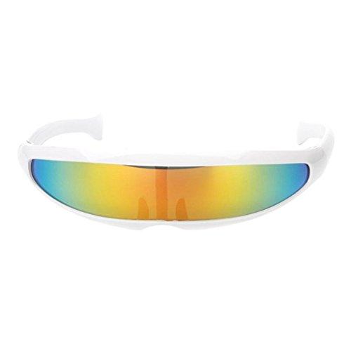 Bag-Best Gafas Sol Forma cíclope Estrecho futurista