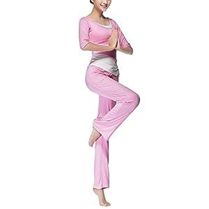 Damen Mädchen Dreiteiliger Yogaanzug Sportanzug Trainingsanzug Fitness Anzug