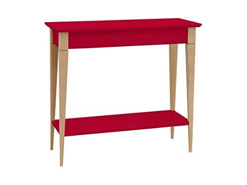 Ragaba Konsolentisch Bestelltisch mit Regal - günstig - Staufach - Einfache Montage - 65 cm breit - FSC® Holz - rot