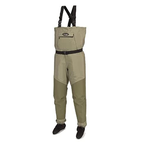 Frogg Toggs Hellbender Microfiber Breathable Stockingfoot Wader, Small, New Sage