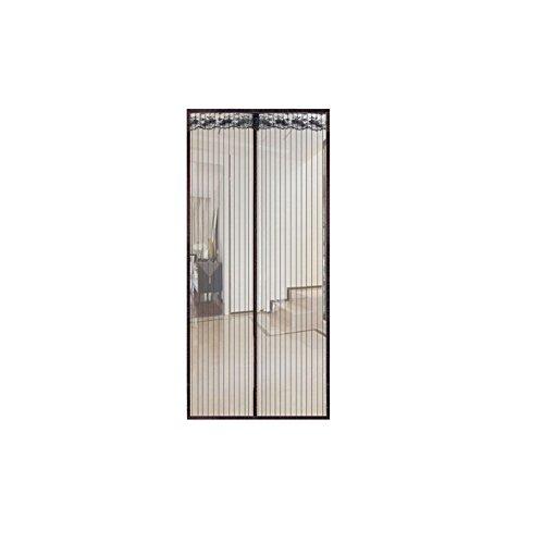 A&J Klett-Screen-Tür-Vorhang Noise-Free Hochwertige magnetische Soft-Screen-Tür Moskito Insektenschutzgitter Vorhang Full Frame Velcro Vorhang(90*210,Black)