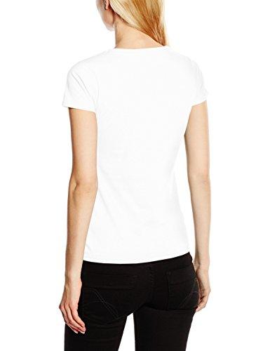 Fruit of the Loom Ss045m, T-Shirt Femme Blanc (White)
