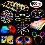 LYKJ-karber Funcorn Toys Varitas Luminosas y Accesorios de Pulseras, Gafas, Flores Decoración para Casa Navidad Halloween Fiestas Bodas y Conciertos (600pcs)