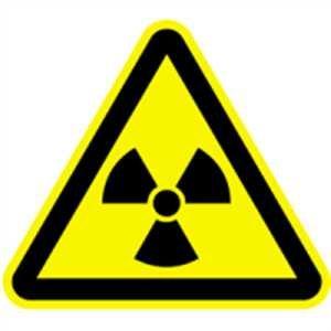 Aufkleber Warnschild Warnung vor radioaktiven Stoffen 3cm Folie, Bogen = 6 Stück
