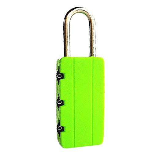 Bontand Reisen Anti-Diebstahl-Rucksack Kleines Vorhängeschloss Rücksetzbaren 3-Stellige Kombination Koffer Passwort Code Lock Padlock Grün