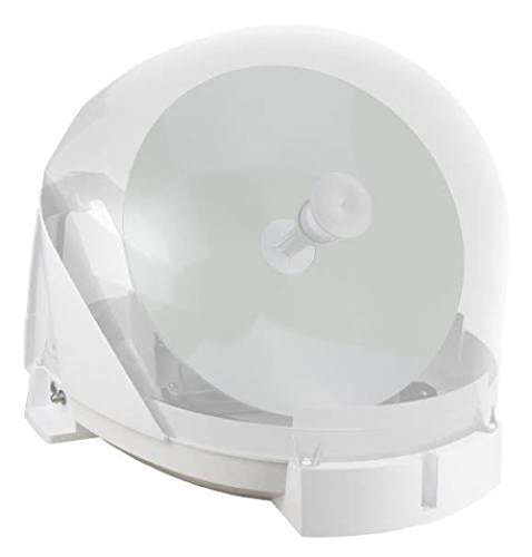 Maxview MXL023 VUQube 2 Fully Automatic Portable/Roof Mount Caravan Motorhome Satellite Dish with Twin LNB - White