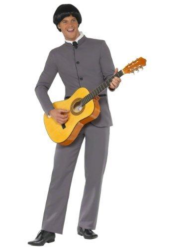 Kostüm Lennon John - 1960er jahre Fab Vier Maskenkostüm Plus gratis Perücke Mittlere Und Große Größen - Herren Gr. M