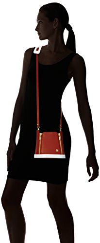 Mysuelly - Teresa, Borsa a tracolla da donna Nero (Sienne Noir/Vernis Blanc)