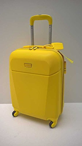 TROLLEY COVERI YOU YOUNG IDONEO RYANAIR Cm.55x40x20 ABS RIGIDO 4 RUOTE Cm.53x35x20 Bagaglioa mano cabina idoneo low cost e Misure Iata TROLLEY CABINA COVERI Linea YOU YONG (GIALLO)