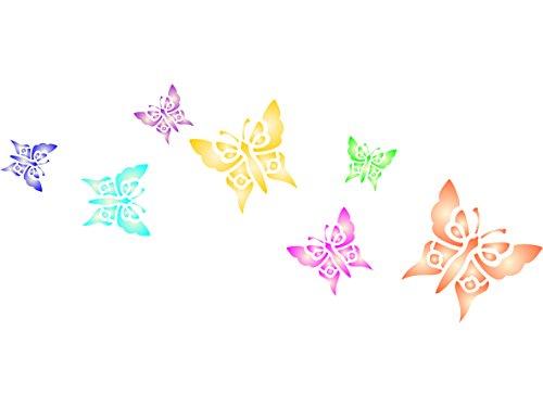 Schmetterlinge Schablone,-wiederverwendbar Tier Insekt Bug Bordüre-Vorlage, auf Papier Projekte Scrapbook Tagebuch Wände Böden Stoff Möbel Glas Holz usw. m