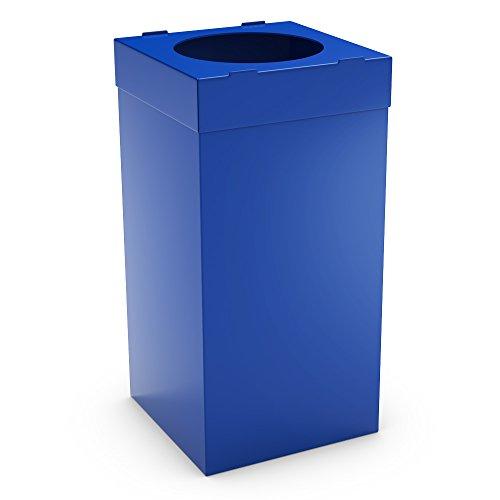 urbaniere Atlas Contenedor Reciclaje 80L Azul/Papelera Basura Ideal para Interiores y Exteriores/Cubo de Basura plástico alveolar de 4 mm/Dimensiones 35 x 35 x 70 cm