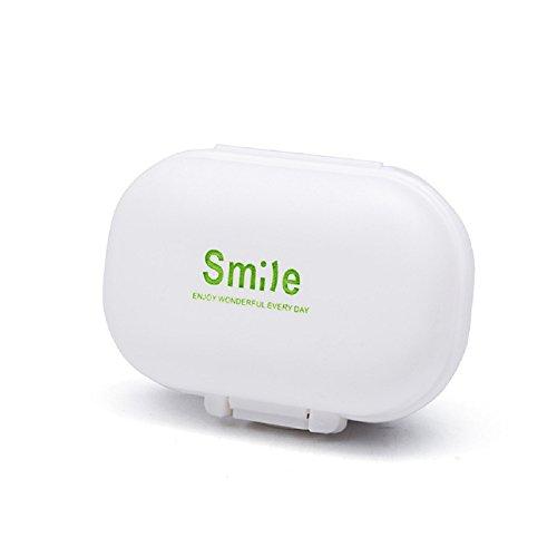 WDOIT Mini Medizin Aufbewahrungsbox Medizin Tablet Fall Behälter Aufbewahrung Halter - Deckel Brief-fach