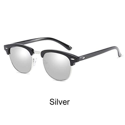 LAMAMAG Sonnenbrille Retro Sonnenbrille Männer Frauen Rivet Square Uv400 Schwarz Farbige Sonnenbrille Männliche Sunglases, A