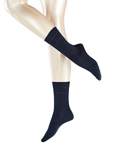 ESPRIT Damen Basic Easy Socken, Blickdicht, Blau (marine 6120), 39/42 (Herstellergröße: 39-42) (erPack 2