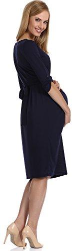 Be Mammy Damen Umstandskleid Vega Marineblau