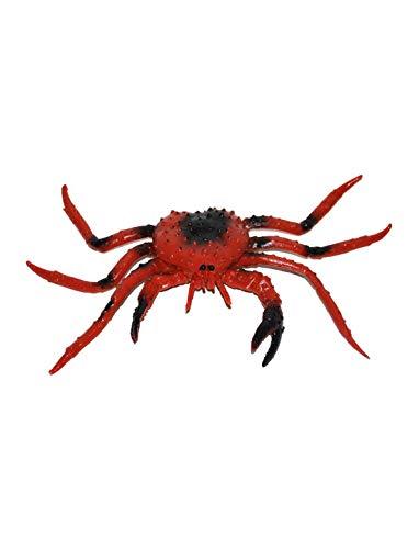 chwarze Krabben ähnliche Spinne mit Beißer, Halloween Dekoration Deko, ideal für Jede Halloween Party / Feier, Rot ()