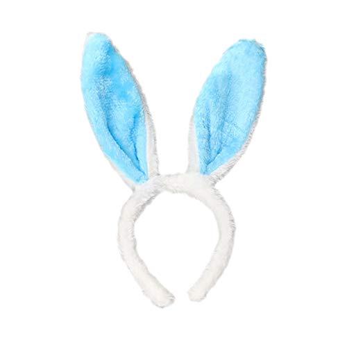 PinkLu Stirnband Damen Osterfest Flauschige Hasenohren Stirnband Haarspange Kopfbedeckung Elegantes Wilde Mode Neuer HeißEr Stirnband Mit 6 Farben