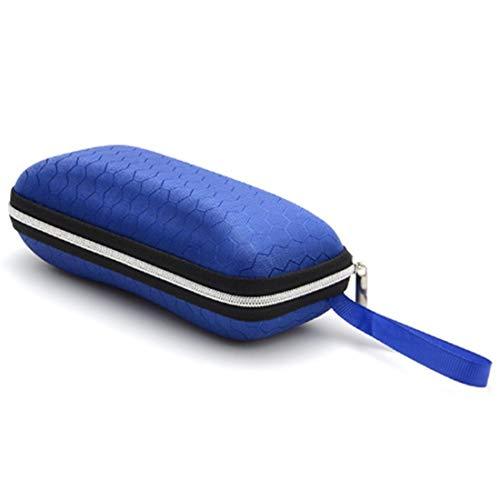 WARM home Wunderschönen Größe: 17 * 7 * 6cm, Sonnenbrille Crush Widerstand Reißverschluss Brillenetui Box Geschenk (Farbe : Blau)