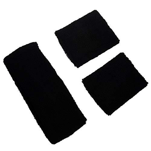 80er Jahre Stile Haarenband und Handgelenk-Schweissband Schweissleder Set ()