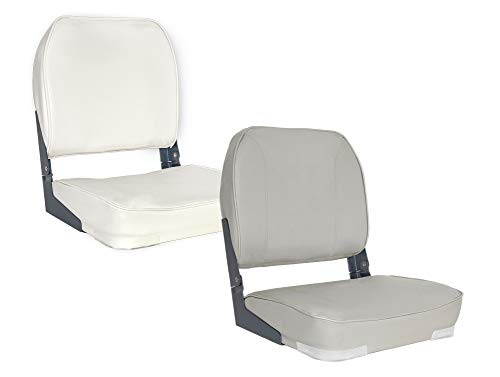 Oceansouth Deluxe Folding Boat Seat (White) -