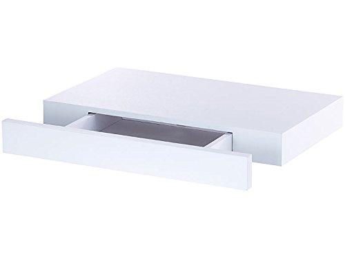 Carlo Milano Étagère Murale avec tiroir Secret - Blanc