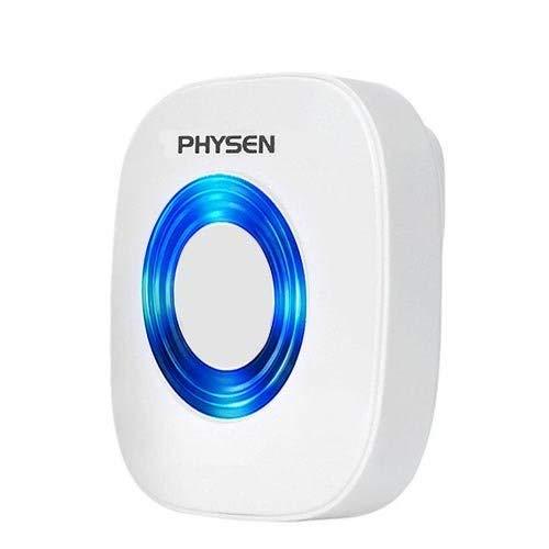 PHYSEN CW Plug in Wireless Doorbell Door Chime 52 Melodies with 4 Adjustable Volume Levels,Doorbell Receiver,White