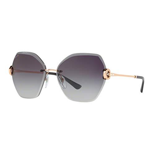 Bulgari Damen 0BV6105B 20148G 62 Sonnenbrille, Pink Gold/Greygradient