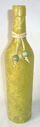❤ Leuchtflasche ❤ beleuchtete Flasche ❤ UNI ❤ hellgrün ❤ 30cm ❤ - Flasche Hellgrün