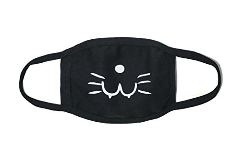 Sassy Pippi Unisex Süße Mundschutz Maske Emojimaske Kälteschutz Gesichtsmaske (Katze A)