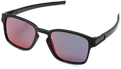 Oakley Unisex - Erwachsene Sonnenbrille LATCH SQUARED Schwarz (Matte Black/Torchiridium), 52