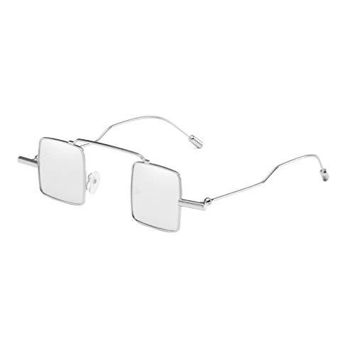 Yying Vintage Harujuku Stil Quadrat Sonnenbrille Männer Frauen Legierung Rahmen Spiegel Persönlichkeit Straße Brillen UV400