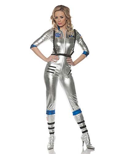Horror-Shop Sexy Astronauten Damenkostüm Silber für Karneval S